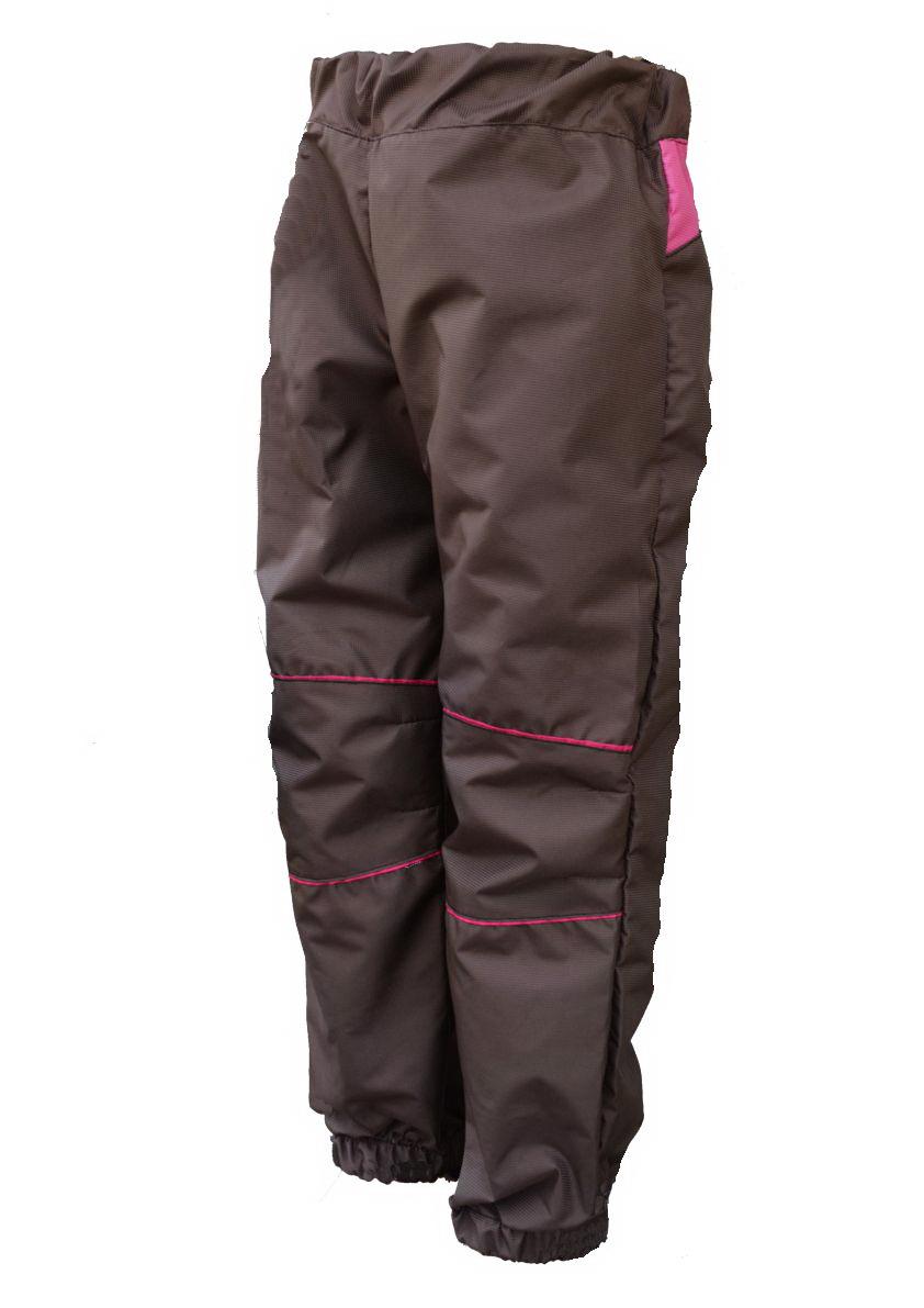 88b207dffe7 Dětské šusťákové kalhoty   hnědo-malinová