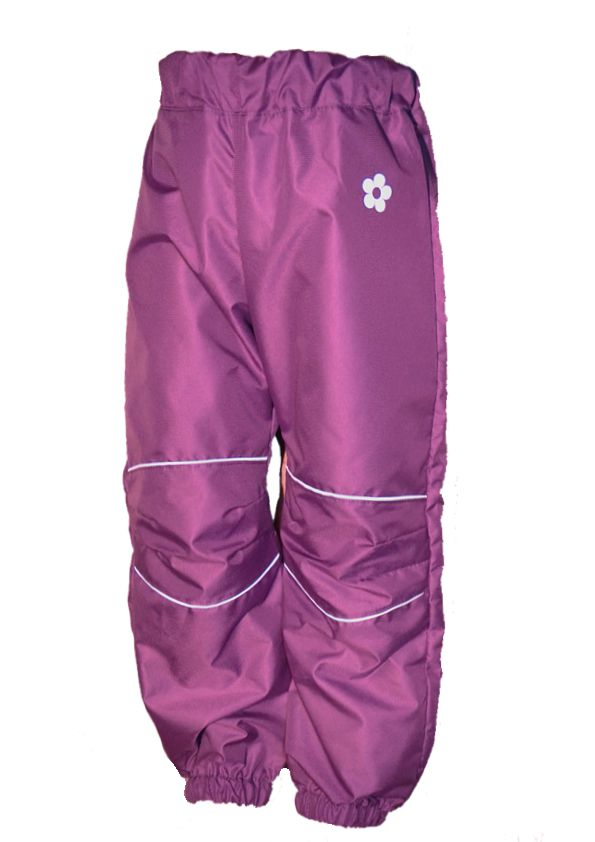 a024a3263f2 Dětské šusťákové kalhoty   středně fialové