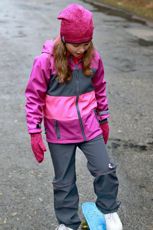 618b72d207a9 Softshellová bunda   ostružinovo-šedo-růžová