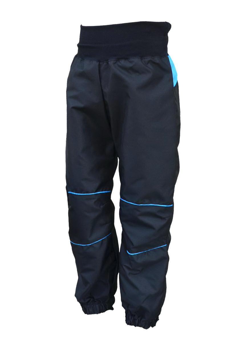 b28051ac167 Dětské šusťákové kalhoty   černo-tyrkysová