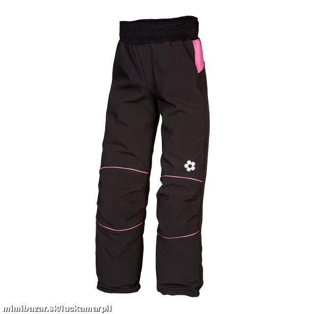 Softshellové kalhoty černo-růžové 30.000mm 9cb8814b4a