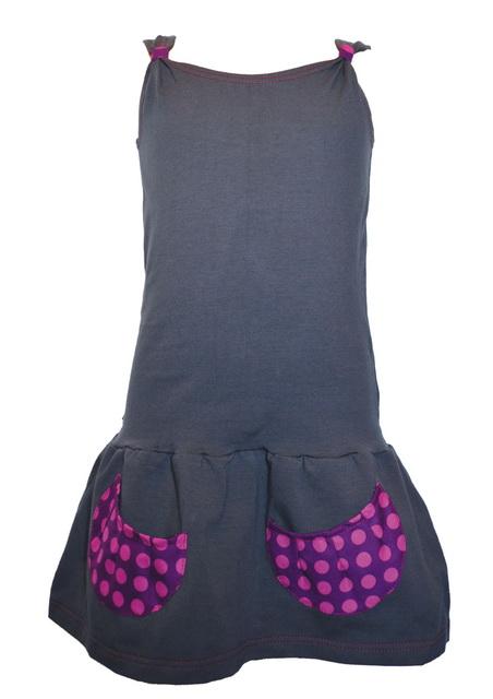 Dívčí šaty šedé empty a075f847c8