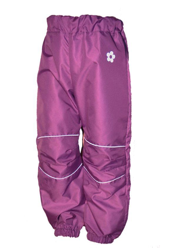 Dětské šusťákové kalhoty   středně fialové empty 22b1d8855b