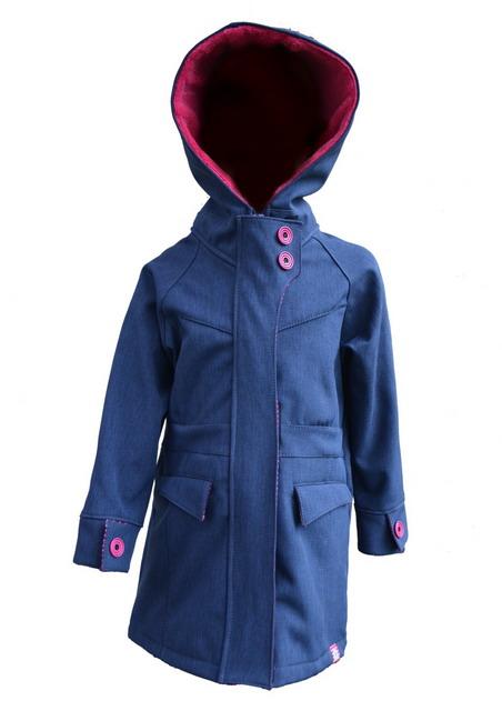 ce45680e129 Dětský softshellový kabát - tm. modrý melír empty