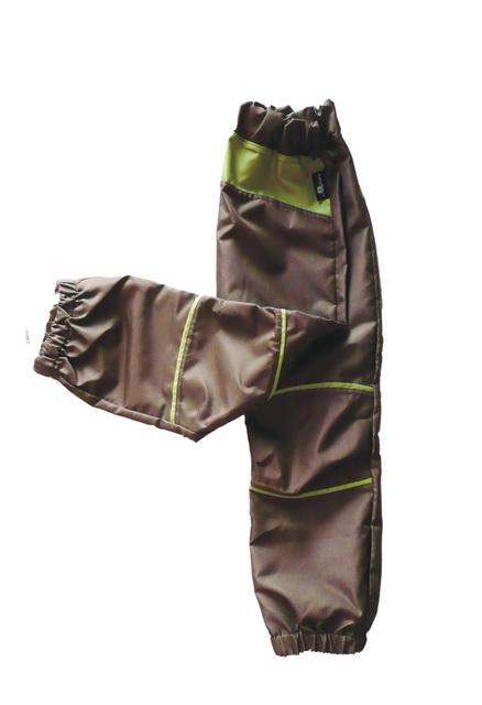 Dětské šusťákové kalhoty   hnědo-zelené empty 3e0a503f03
