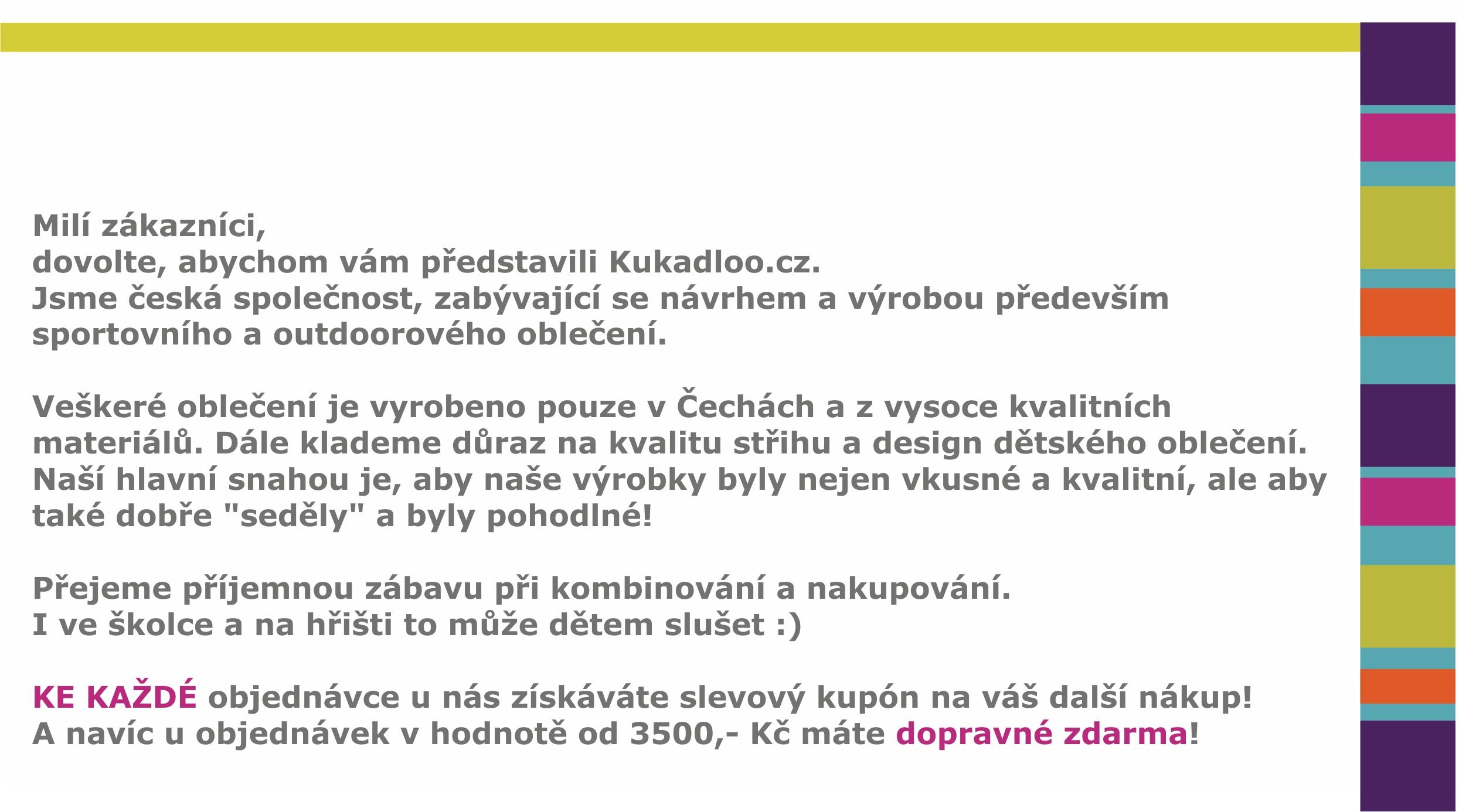 bacddd1d3b4 Český výrobce dětského oblečení